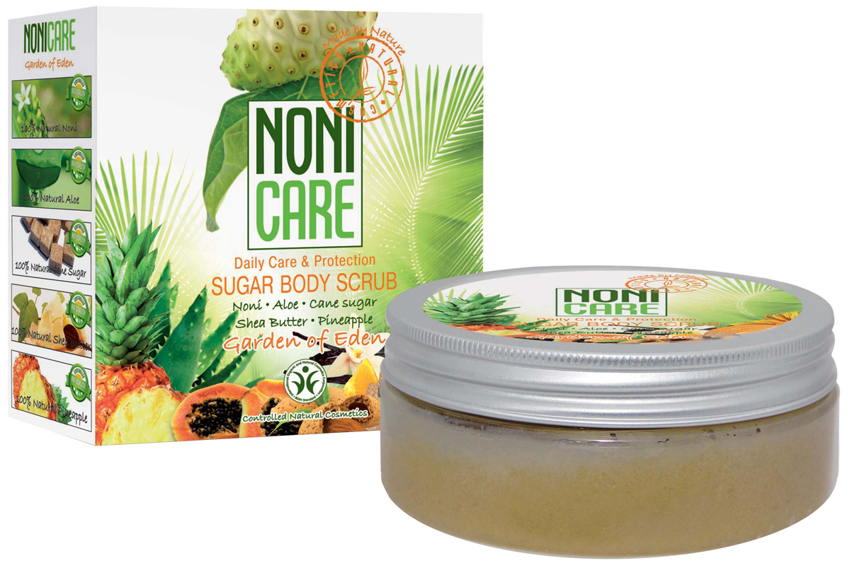 заказать и купить Nonicare Сахарный скраб для тела c АНА–кислотами Garden Of Eden - Sugar Body Scrub 200 мл