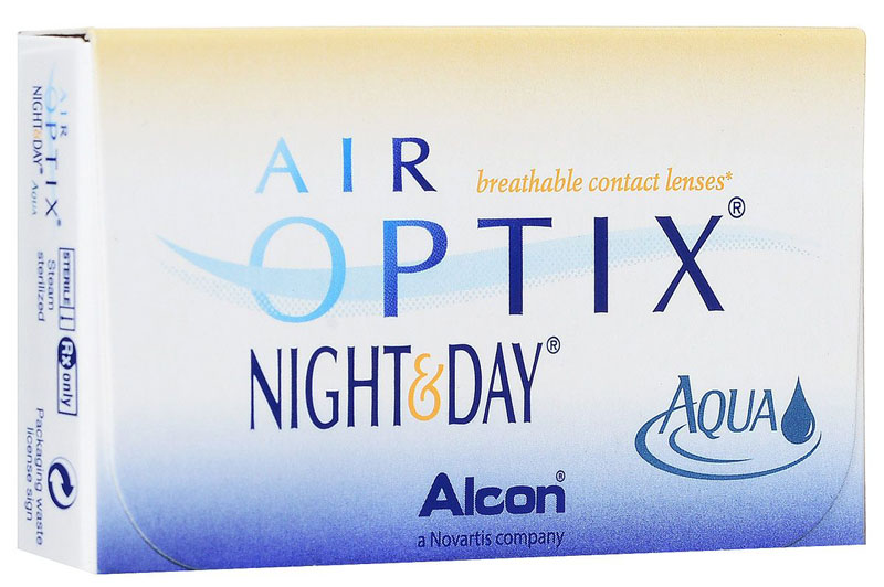 заказать и купить Alcon-CIBA Vision контактные линзы Air Optix Night & Day Aqua (3шт / 8.4 / +3.00)