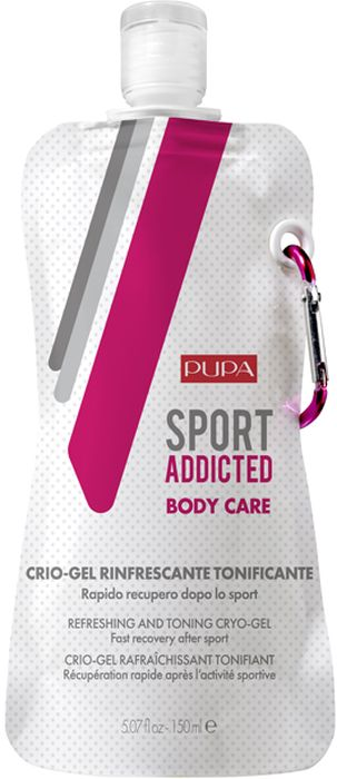 заказать и купить Pupa Криогель для тела Sport Addicted Refreshing&Toning Cryo-Gel, 150 мл
